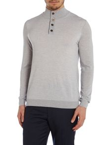 Tristan Funnel Neck Button Jumper