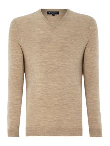 Crowe Plain V Neck Pull Over Jumper