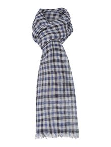 Denis Check Linen Scarf