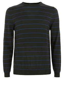 Rolfe Stripe Crew Neck Knit