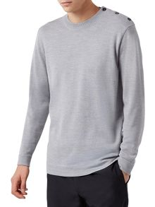 Aquascutum Yorke Button Shoulder Knit