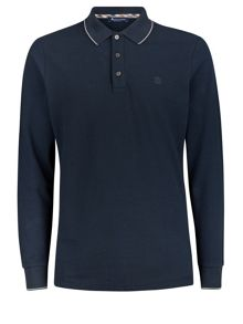 Wolcot Long Sleeve Tipped Pique Polo