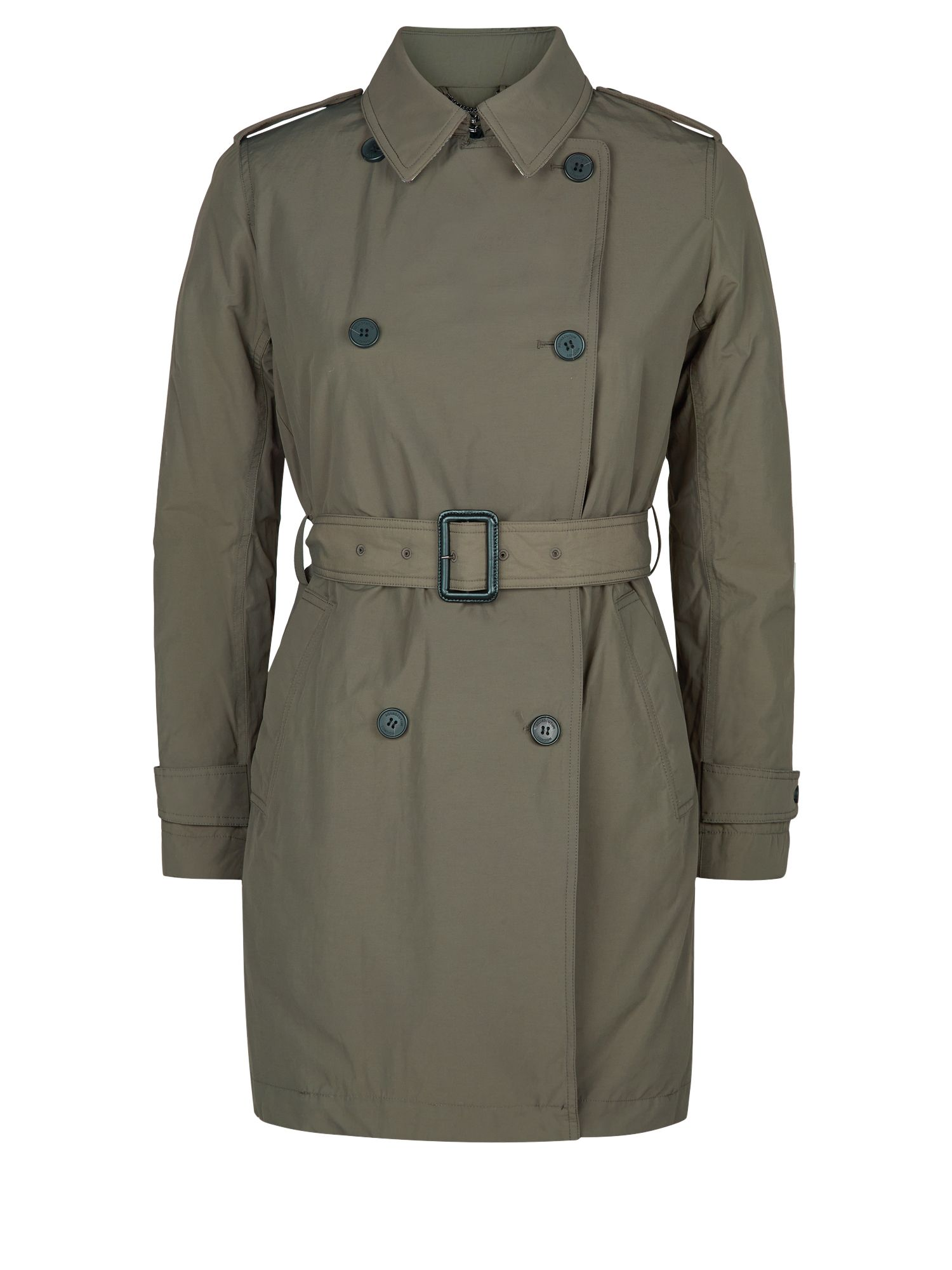 Aquascutum Murray Double Breasted Wadded Trench, Green