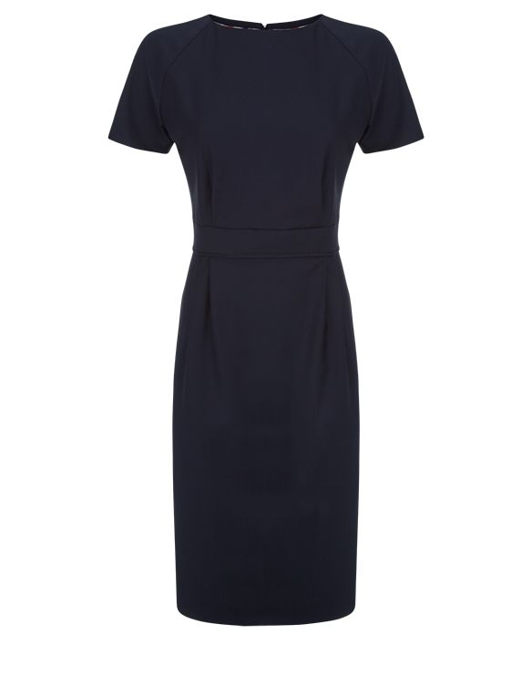 Aquascutum Bryony Wool Stretch Dress, Blue