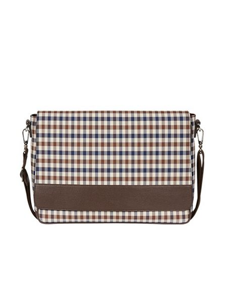 Aquascutum Club check messenger bag