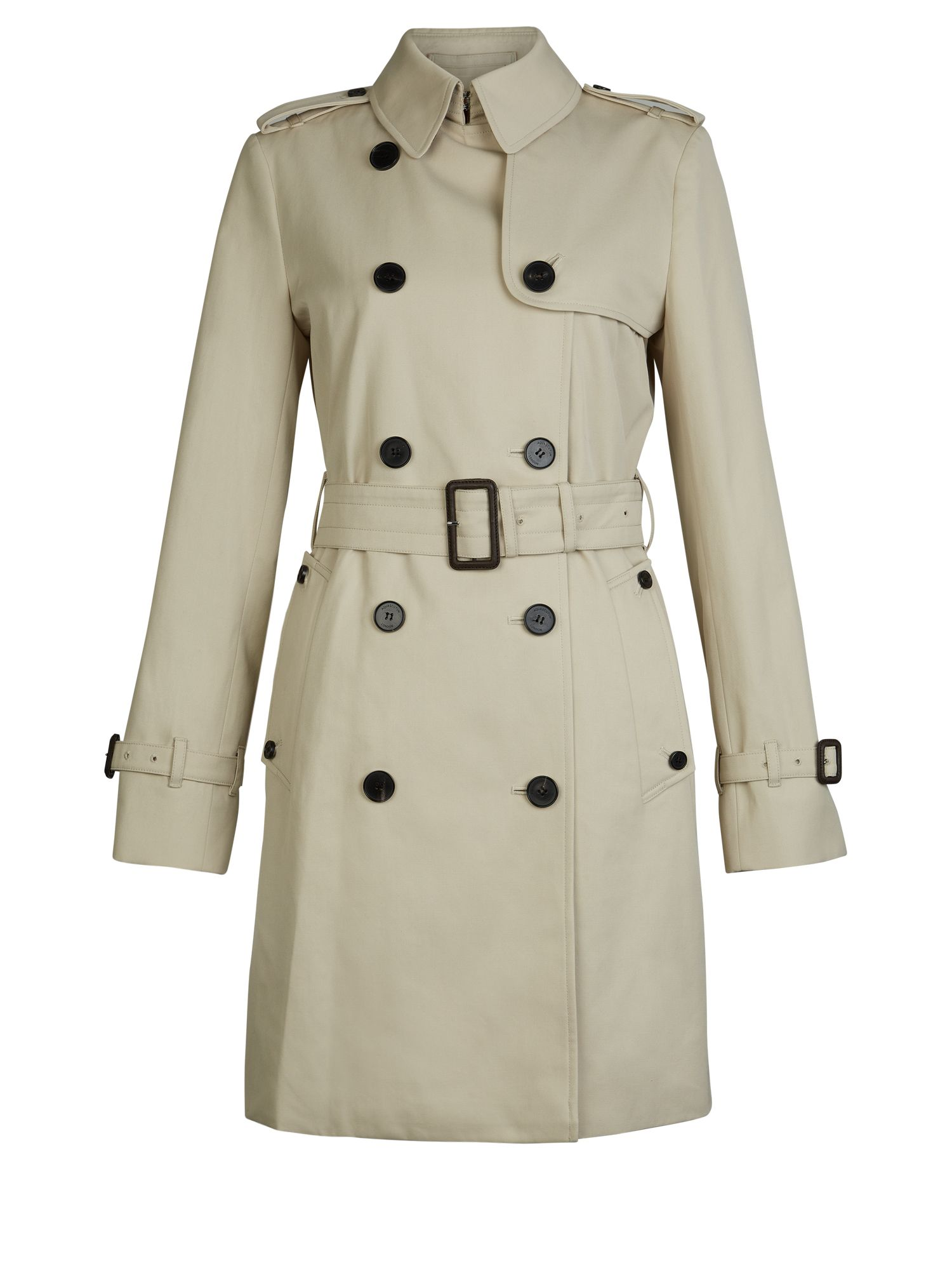 Aquascutum Franca Double Breasted Coat, White