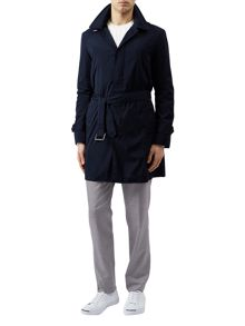 Aquascutum Ossett hooded belted raincoat
