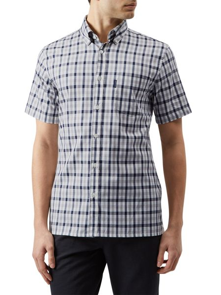 Aquascutum Emsworth short sleeve club check shirt