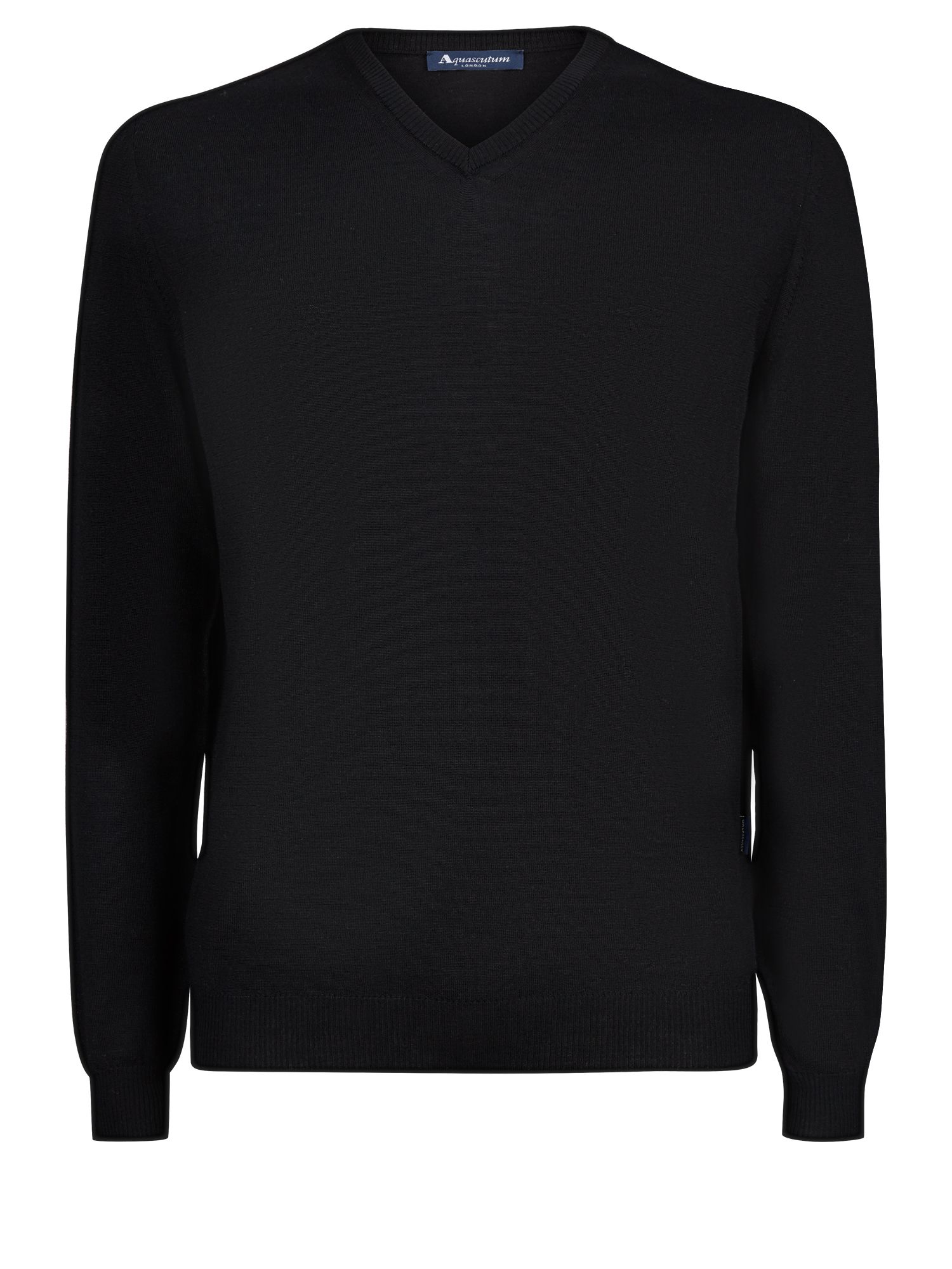 Mens Aquascutum Crowe Vee Knit Black