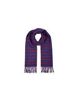 Club check lambswool scarf