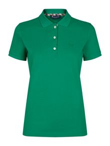 Aquascutum Jenny Club Check Placket Piqué Polo