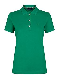 Jenny Club Check Placket Piqué Polo