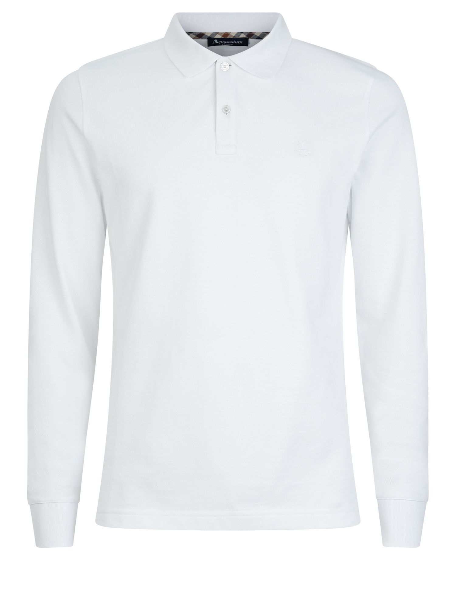 Men's Aquascutum Hilton Long Sleeve Polo, White