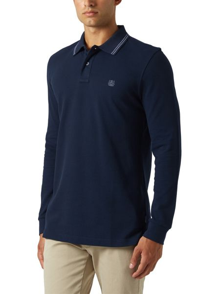 Aquascutum Preston Long Sleeve Pique Polo