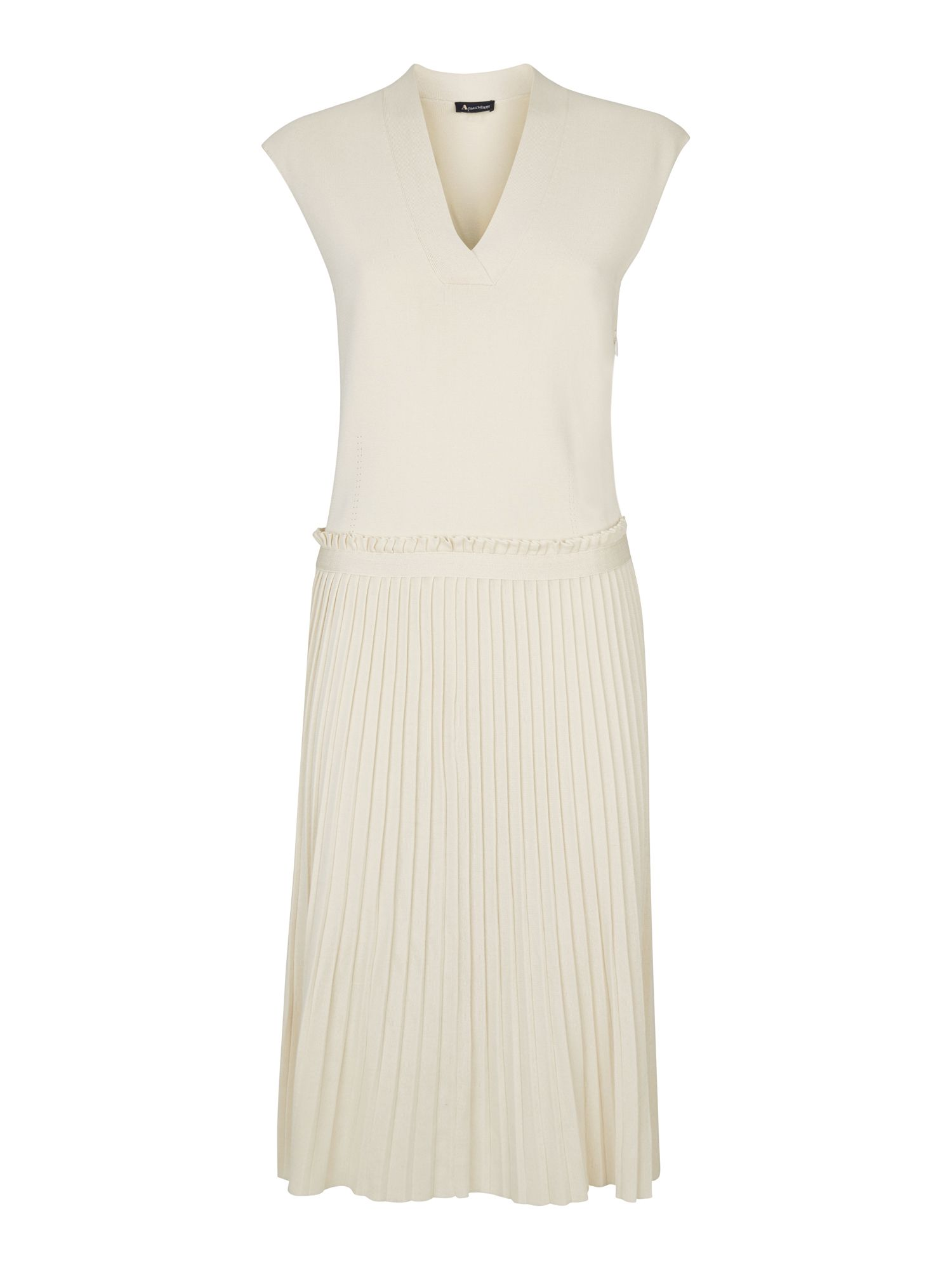 Aquascutum Iris Knitted Pleated Dress, White
