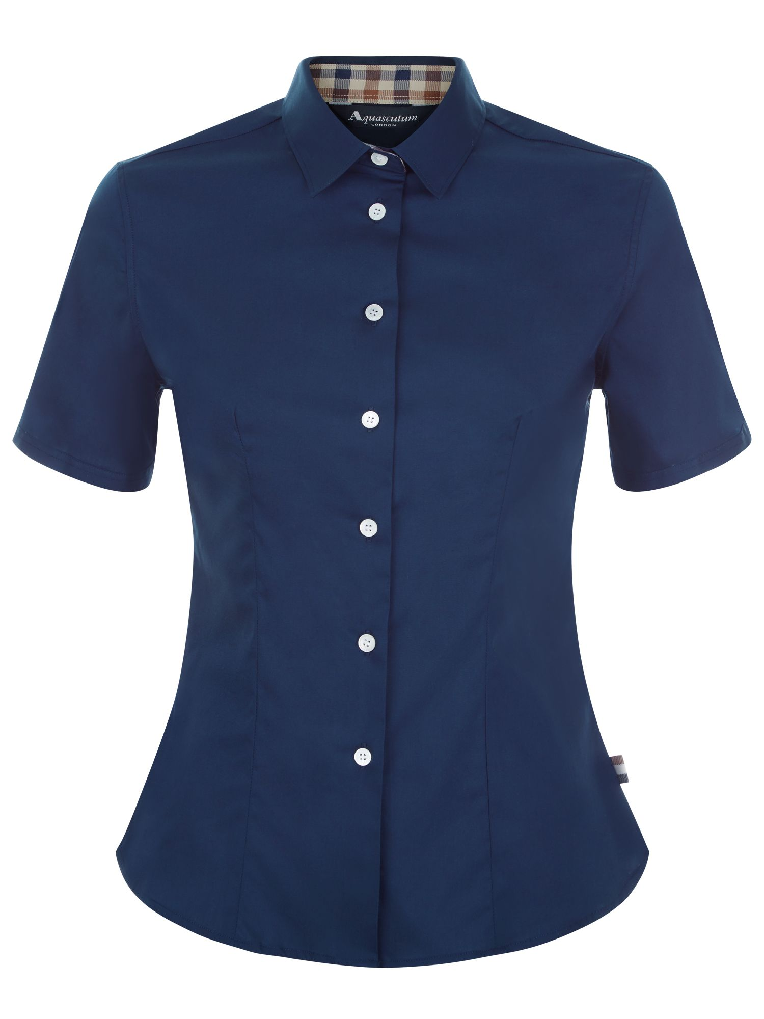 Aquascutum Jade Short Sleeve Shirt, Blue