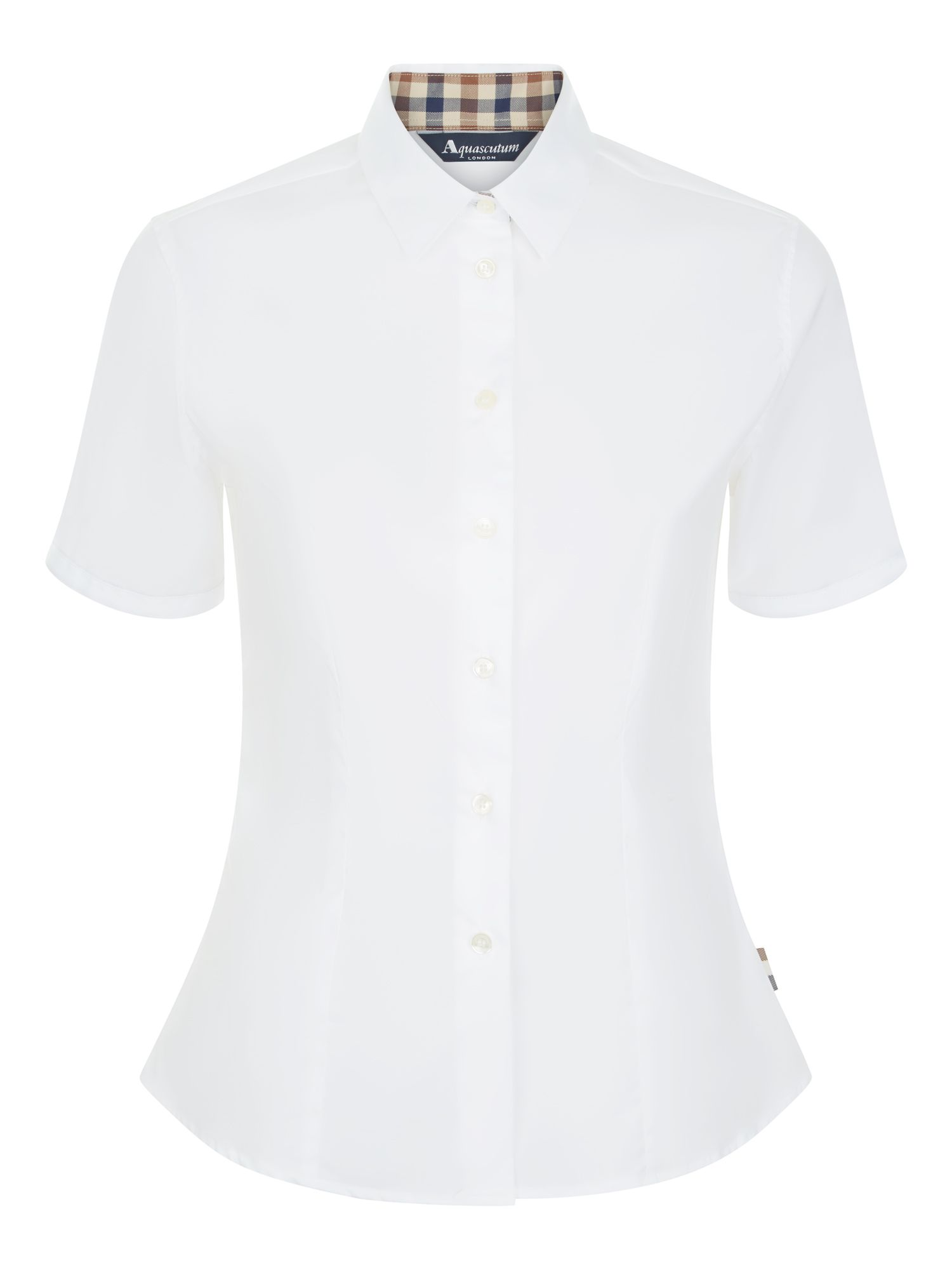 Aquascutum Jade Short Sleeve Shirt, White