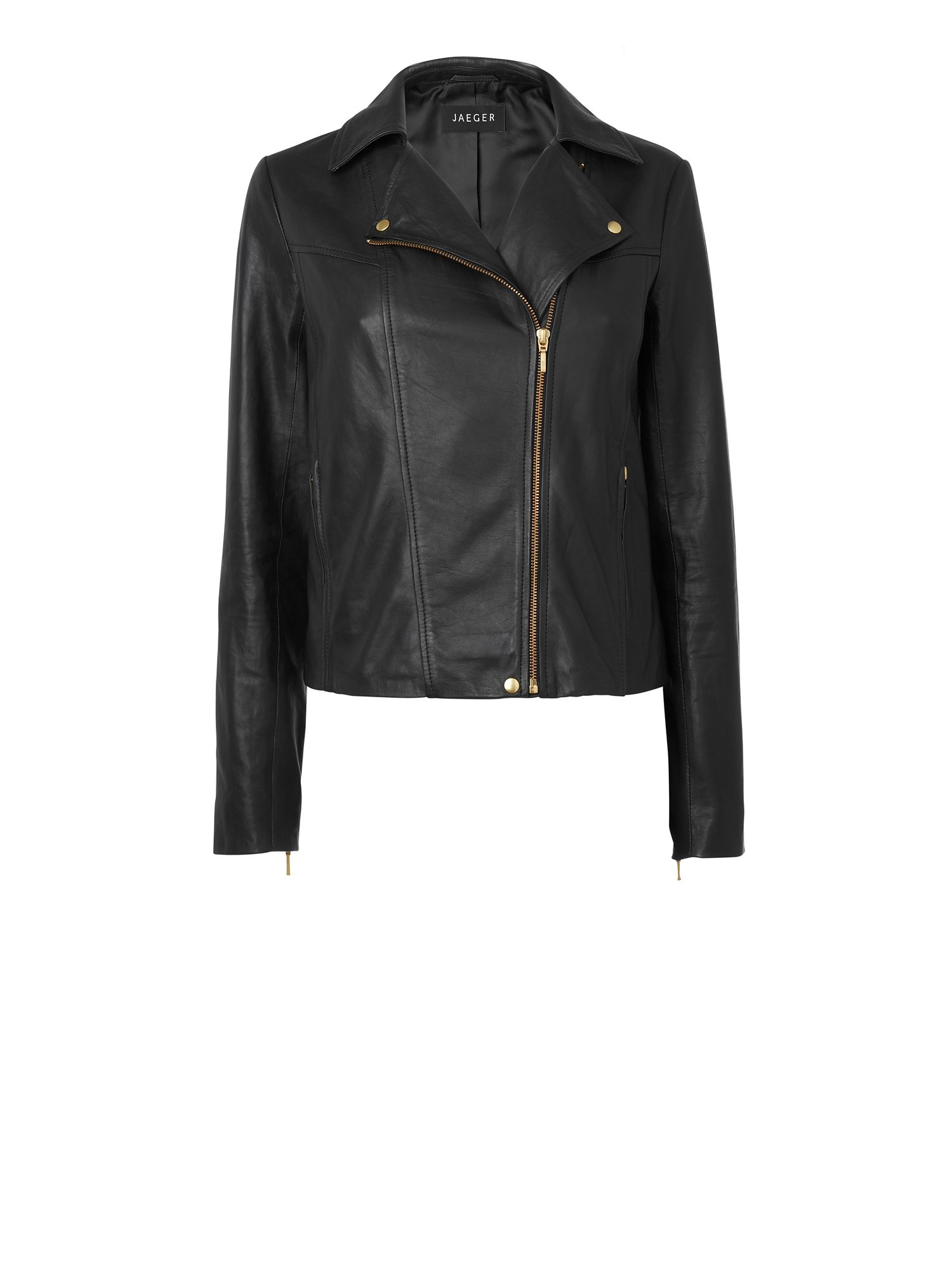 Women's Jaeger Leather biker jacket, Black