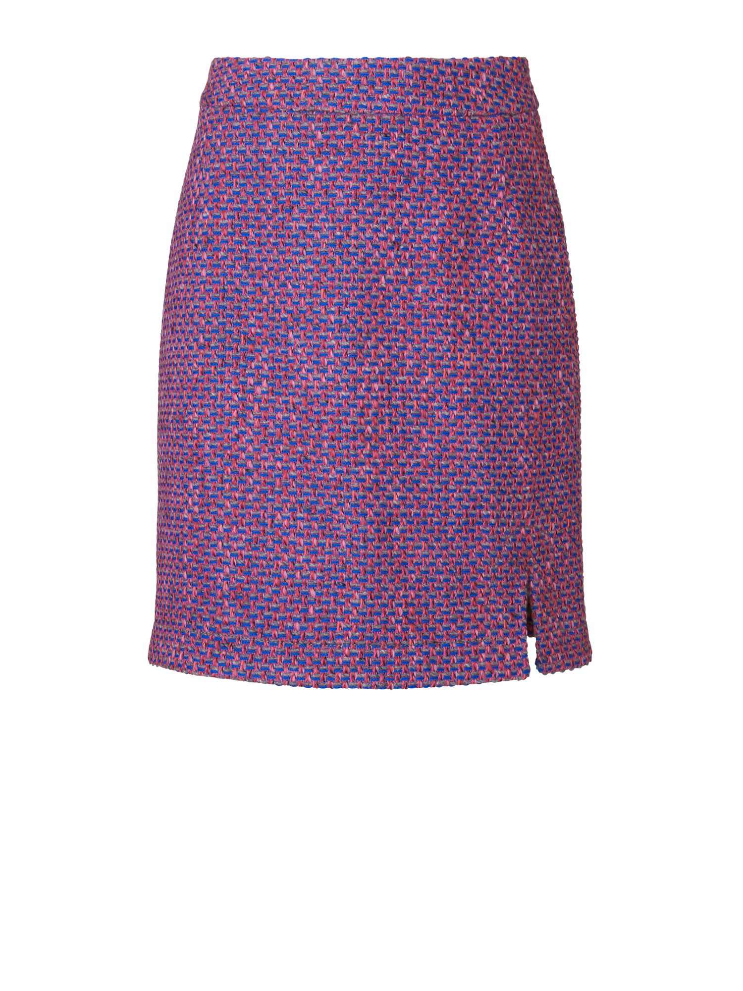 Tweed split skirt