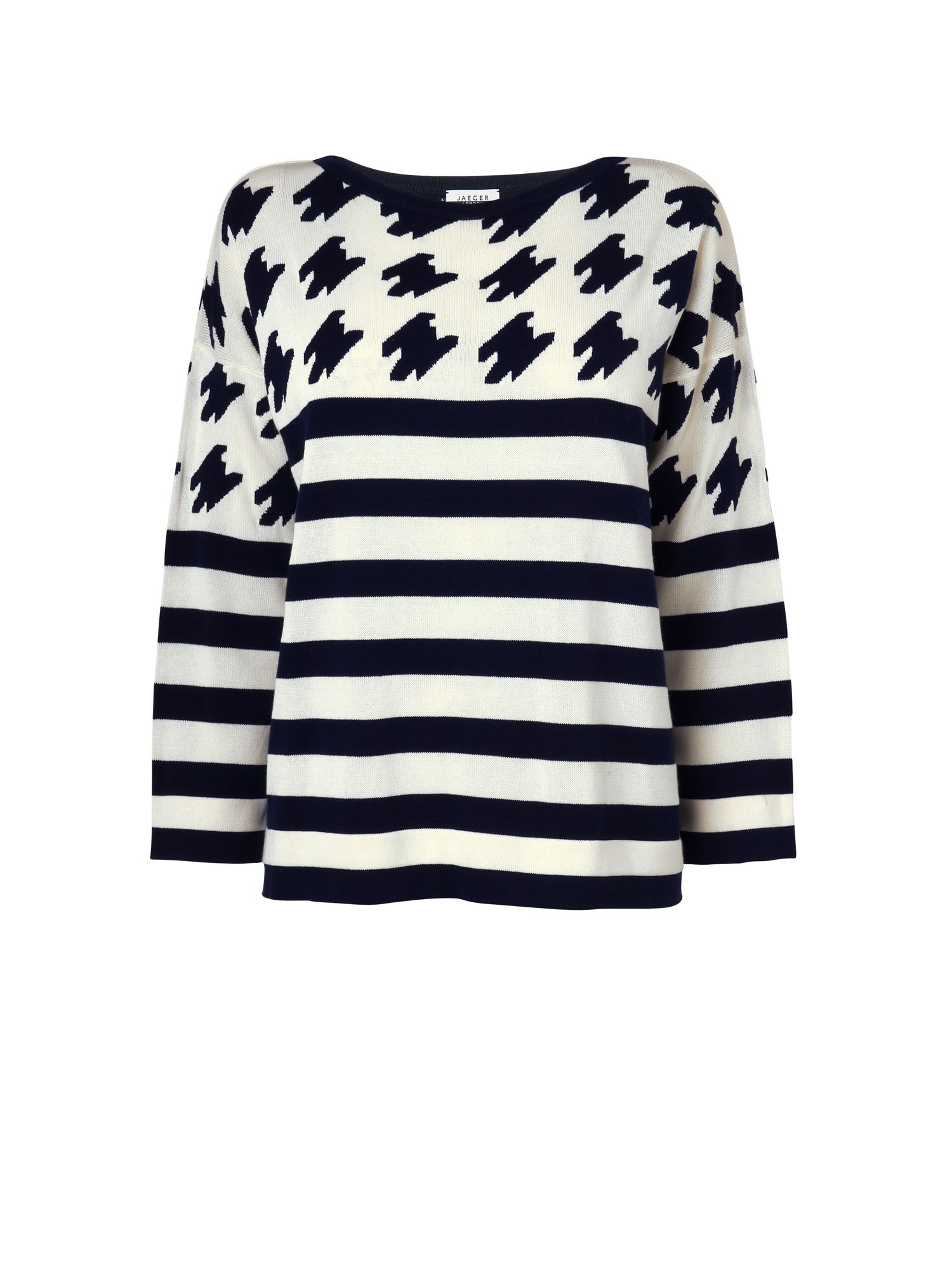 Houndstooth stripe sweater