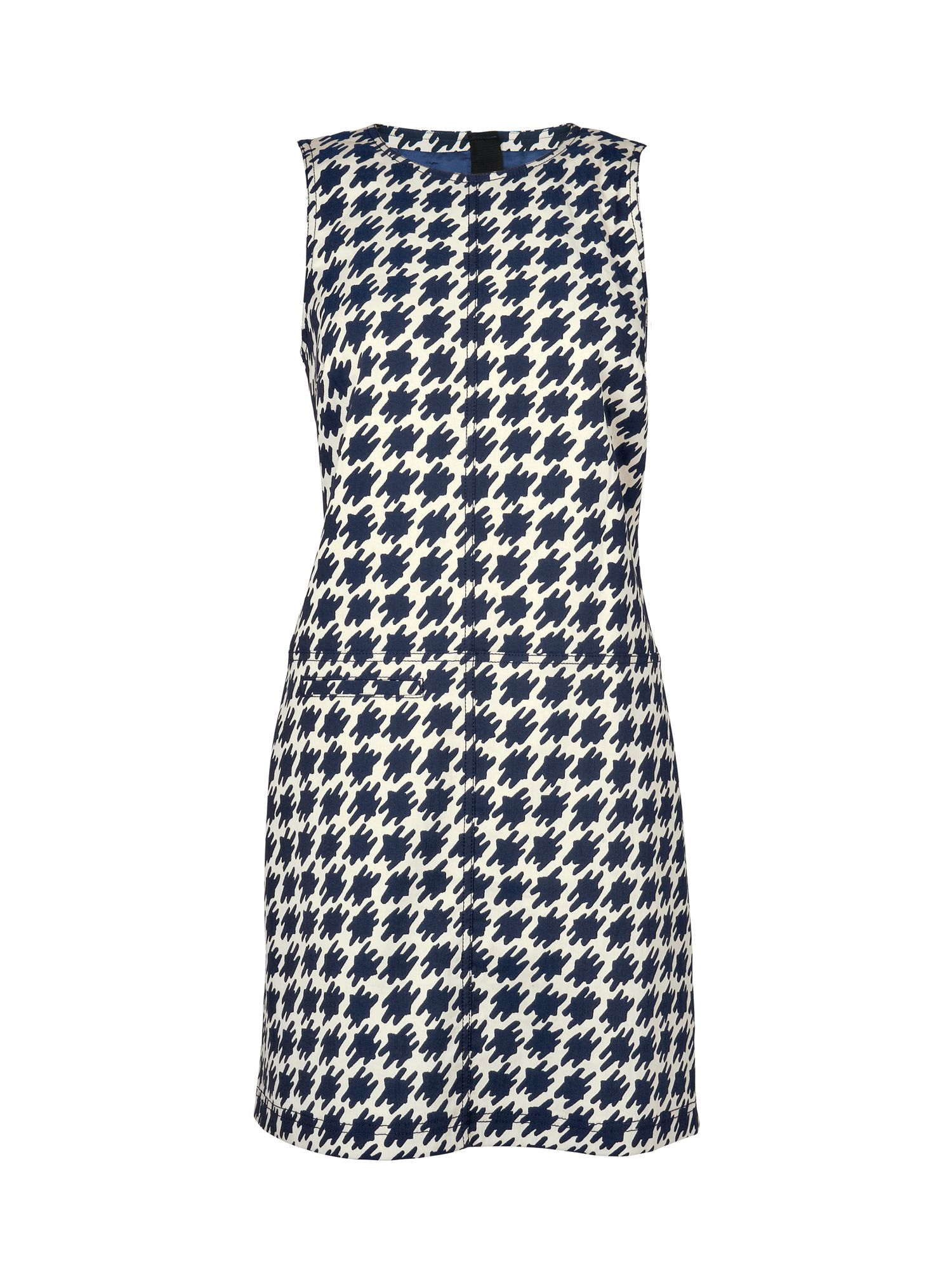 Dogstooth shift dress