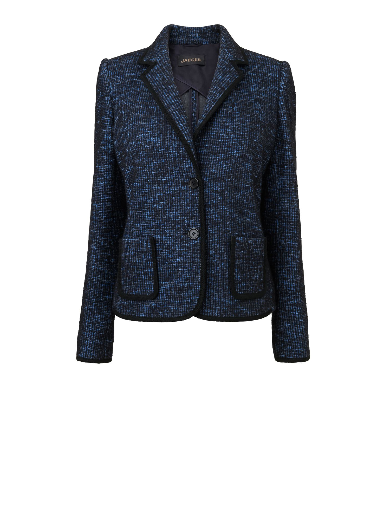 Tweed jersey double face jacket