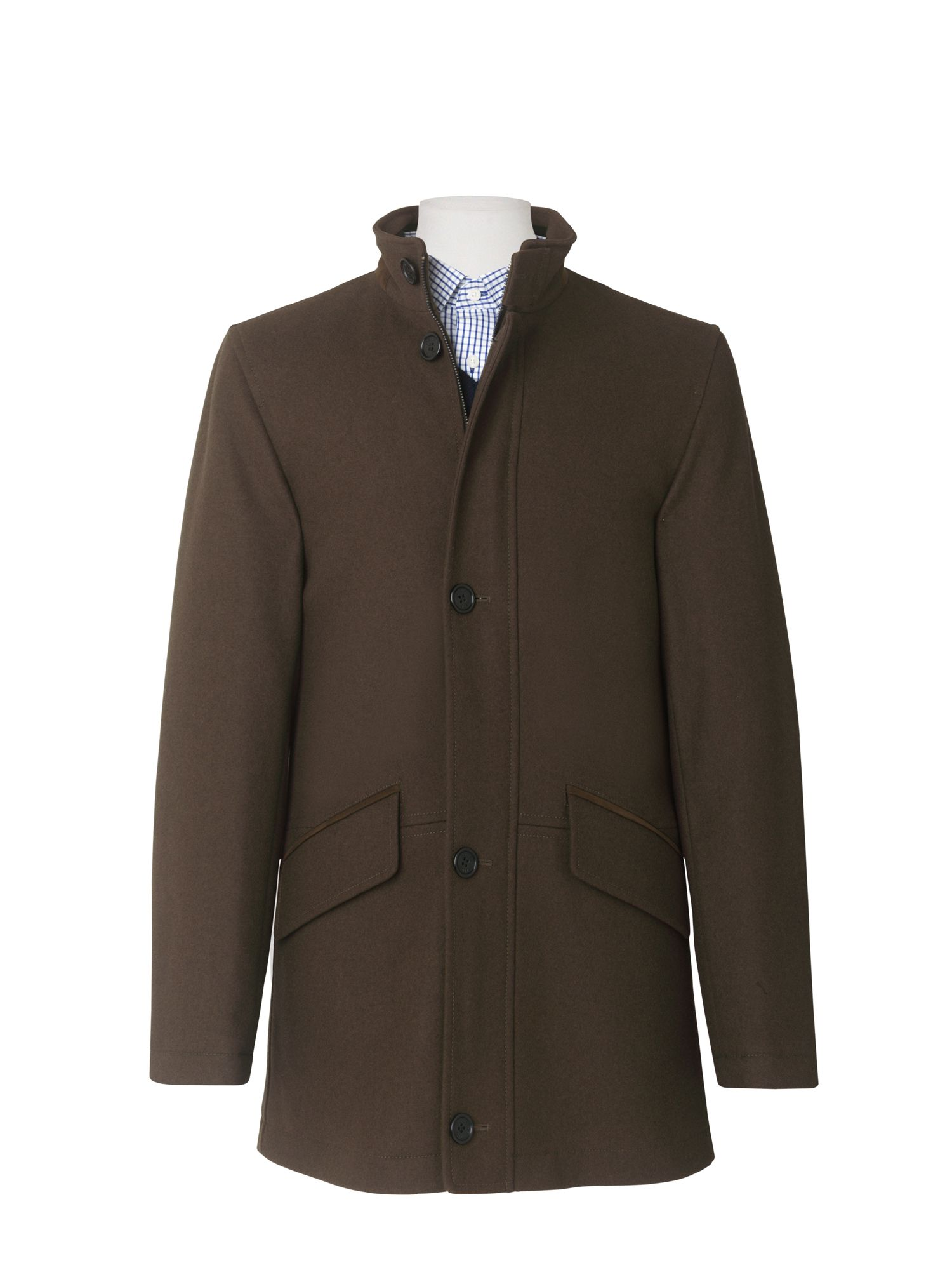 Funnel neck car coat