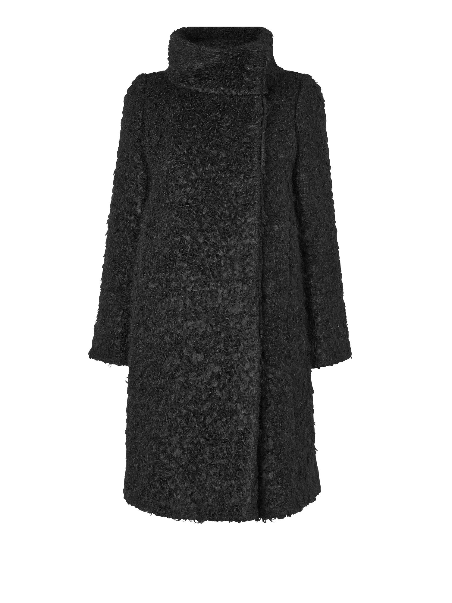 Funnel curly boucle coat