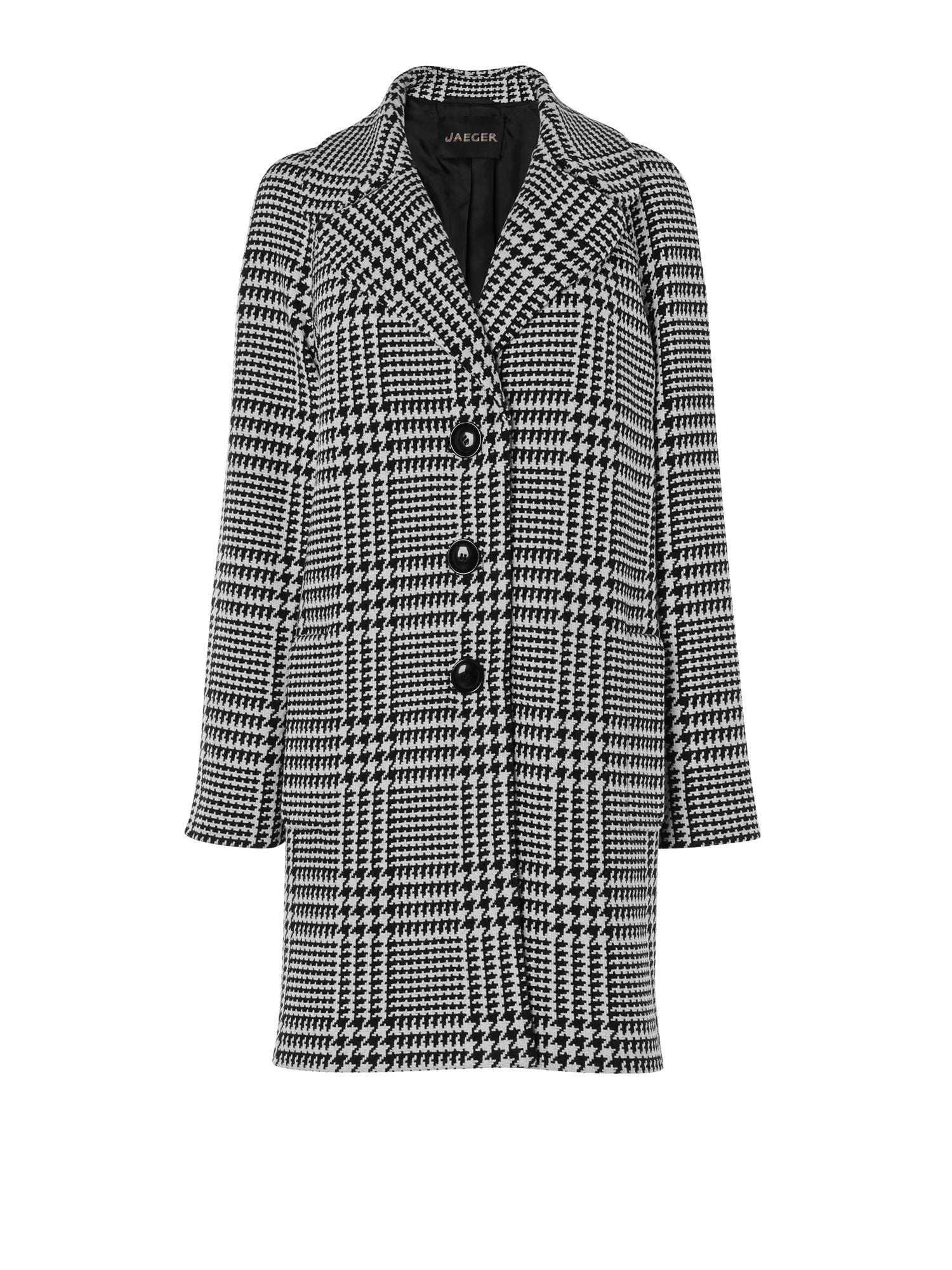 Giant Houndstooth Cocoon Coat