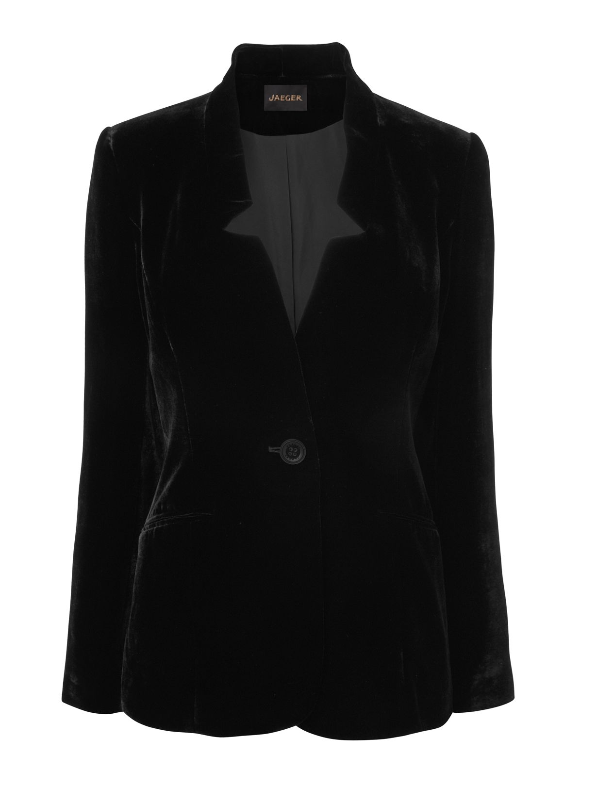 Notch Detail Velvet Jacket