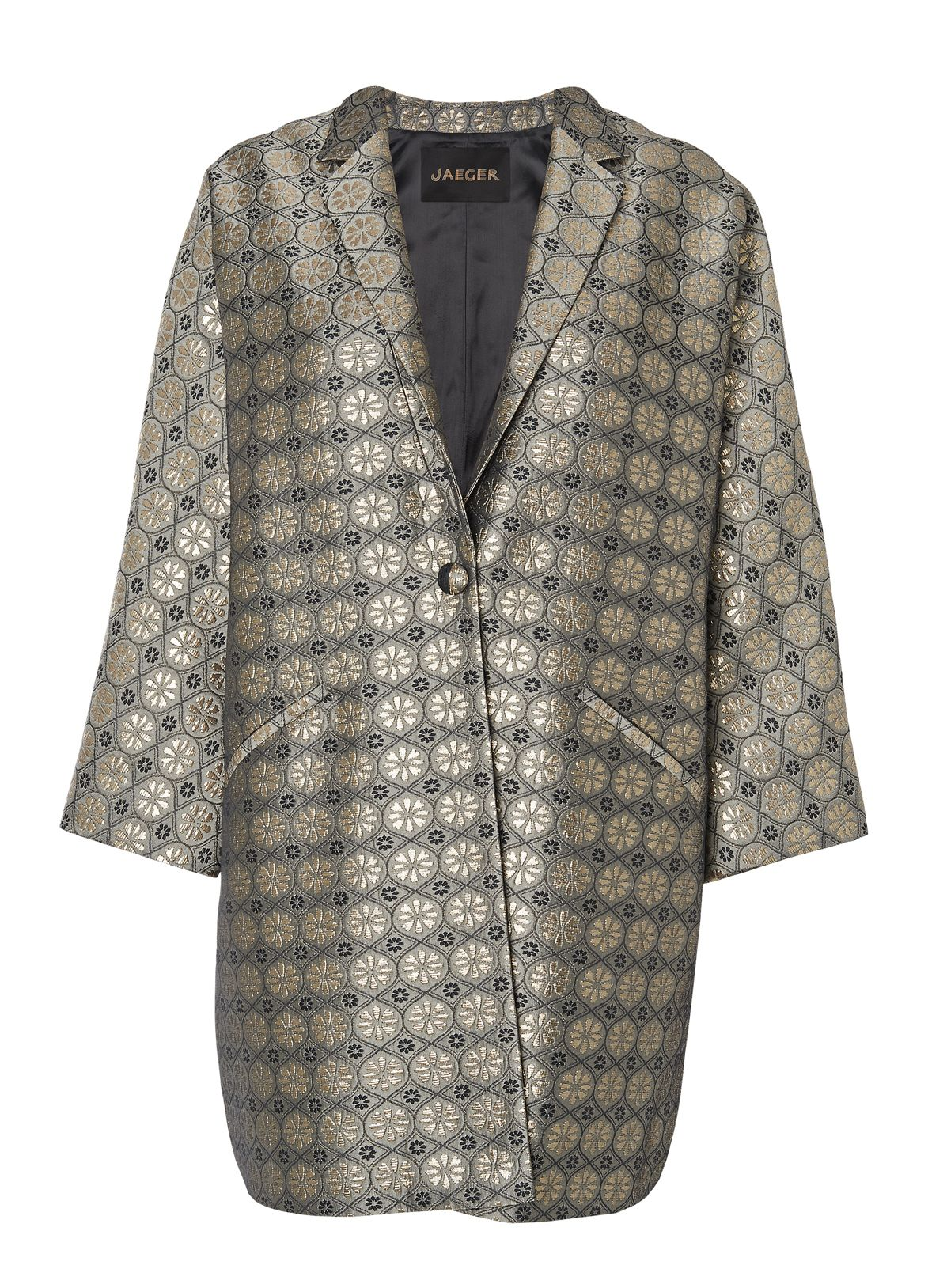 Metallic Jacquard Coat