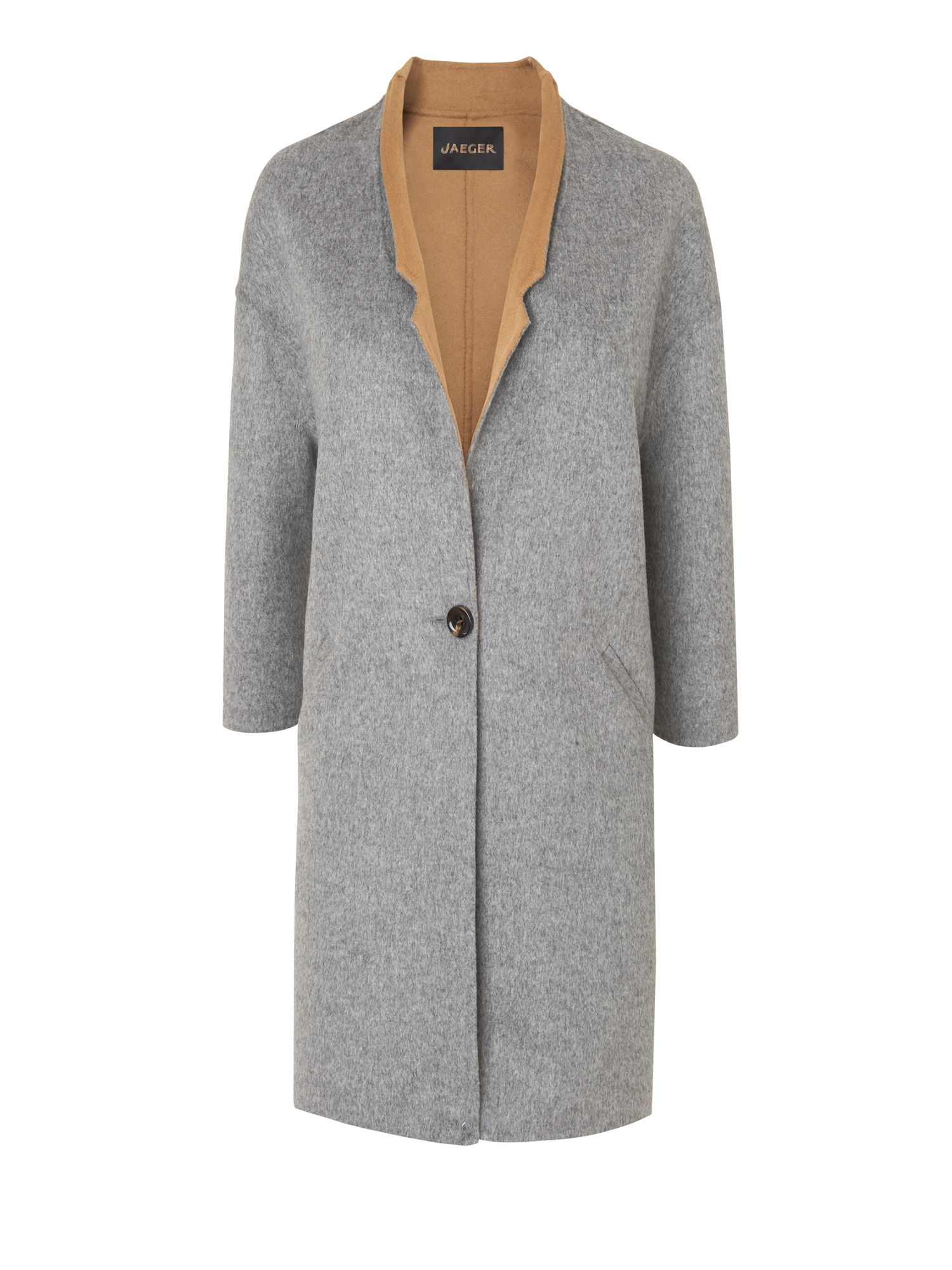Midi coat with double faced cloth