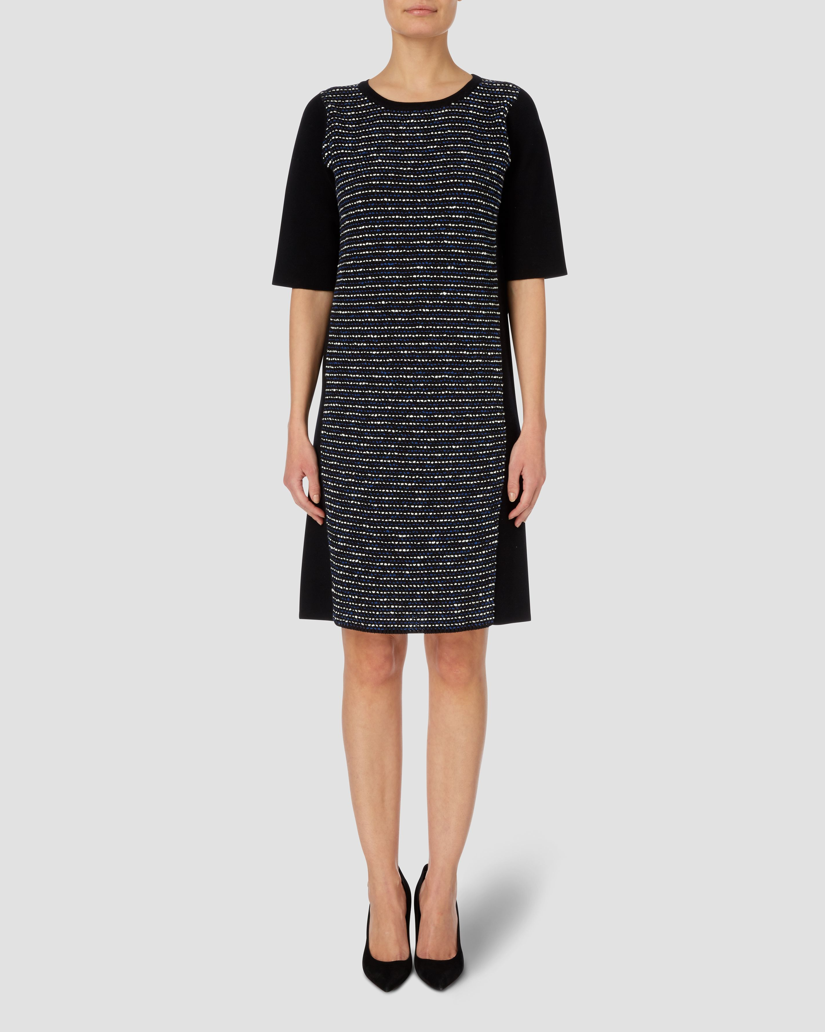 Textured Front Knit Dress