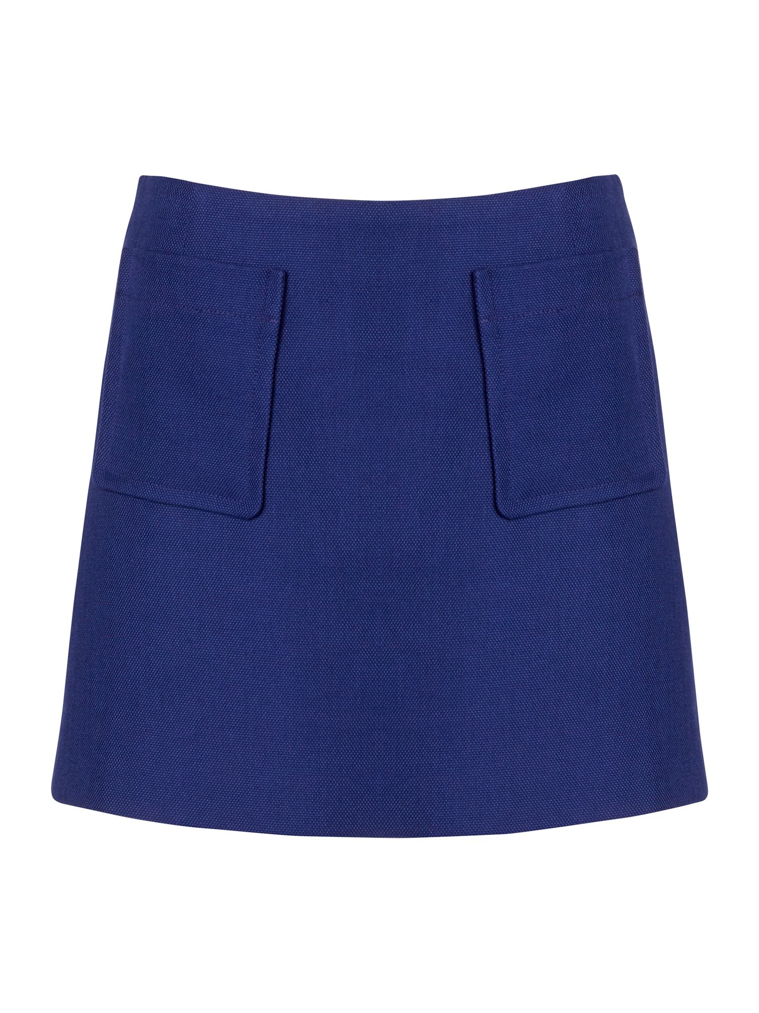 Textured pocket mini skirt