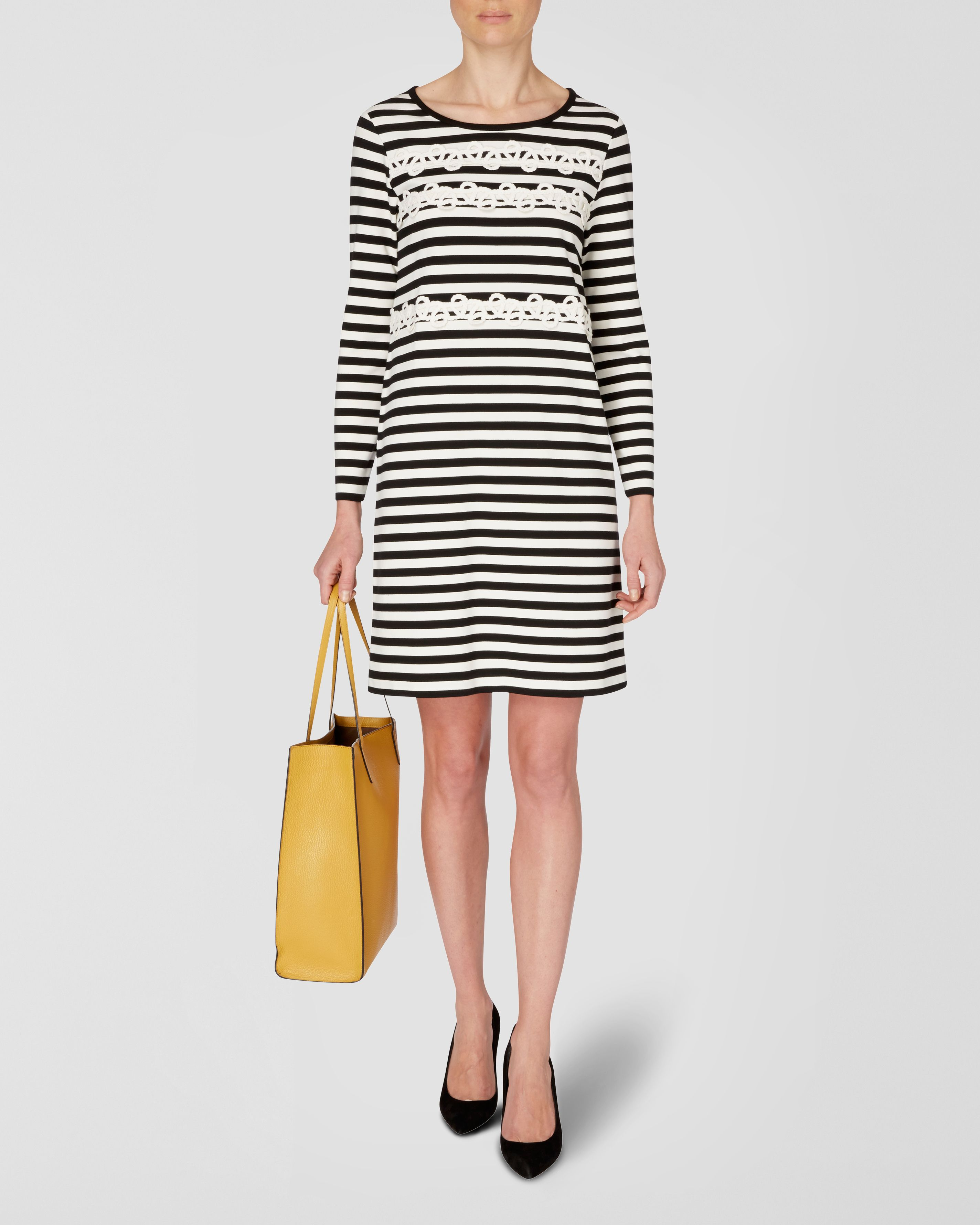 Rope Trim Jersey Dress