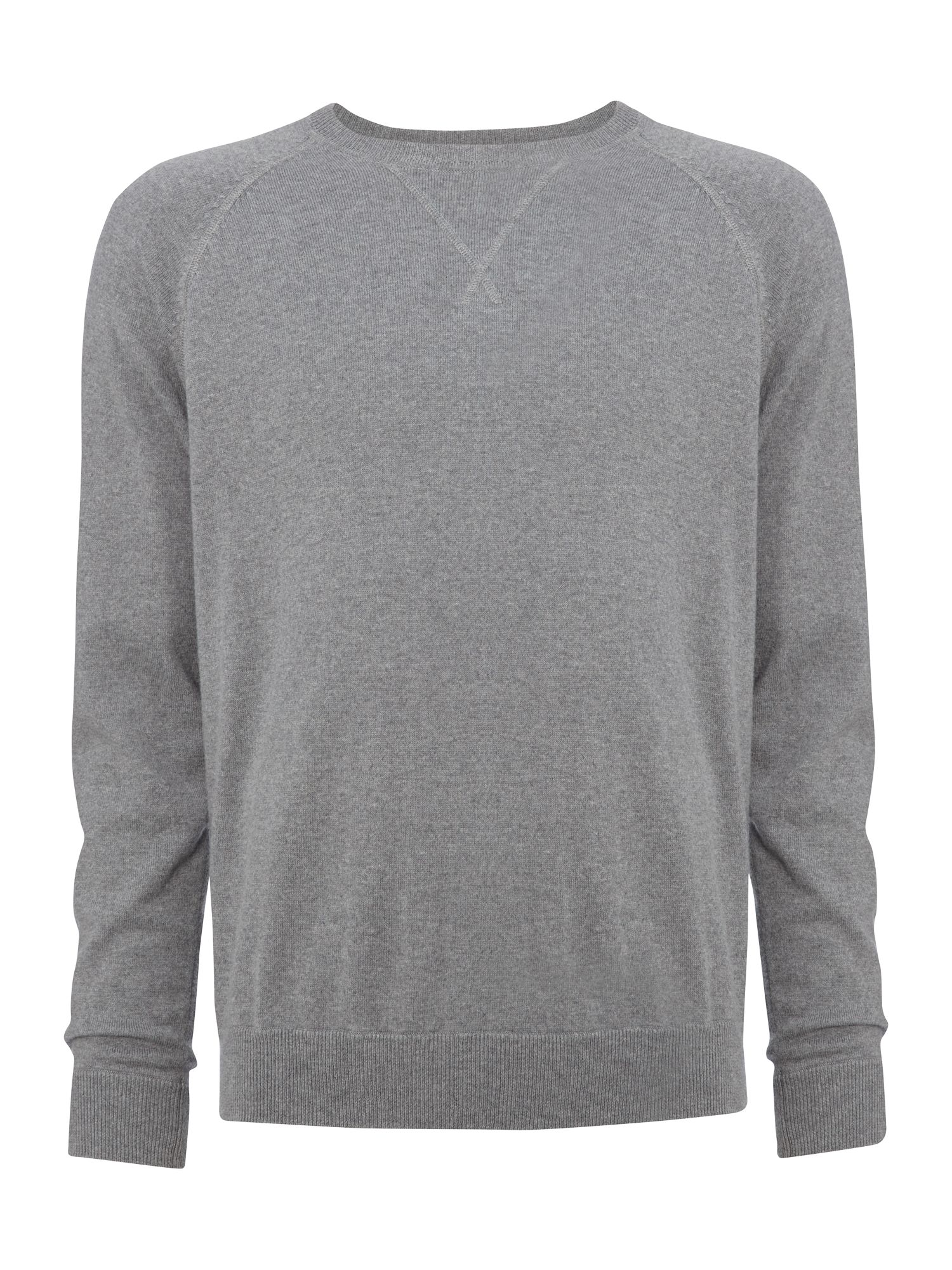 Raglan sleeve crew neck sweater
