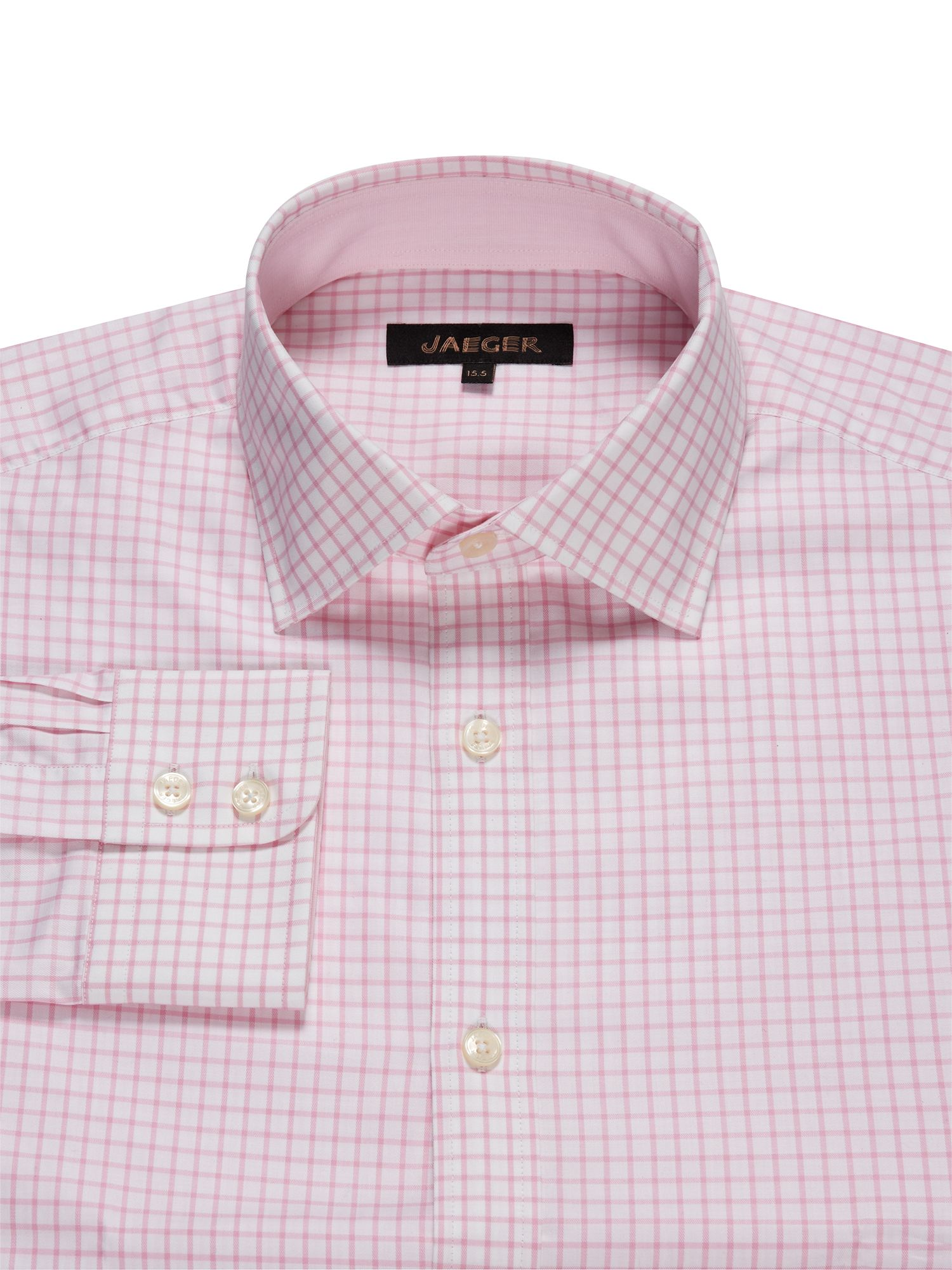 Travel windowpane long sleeve shirt
