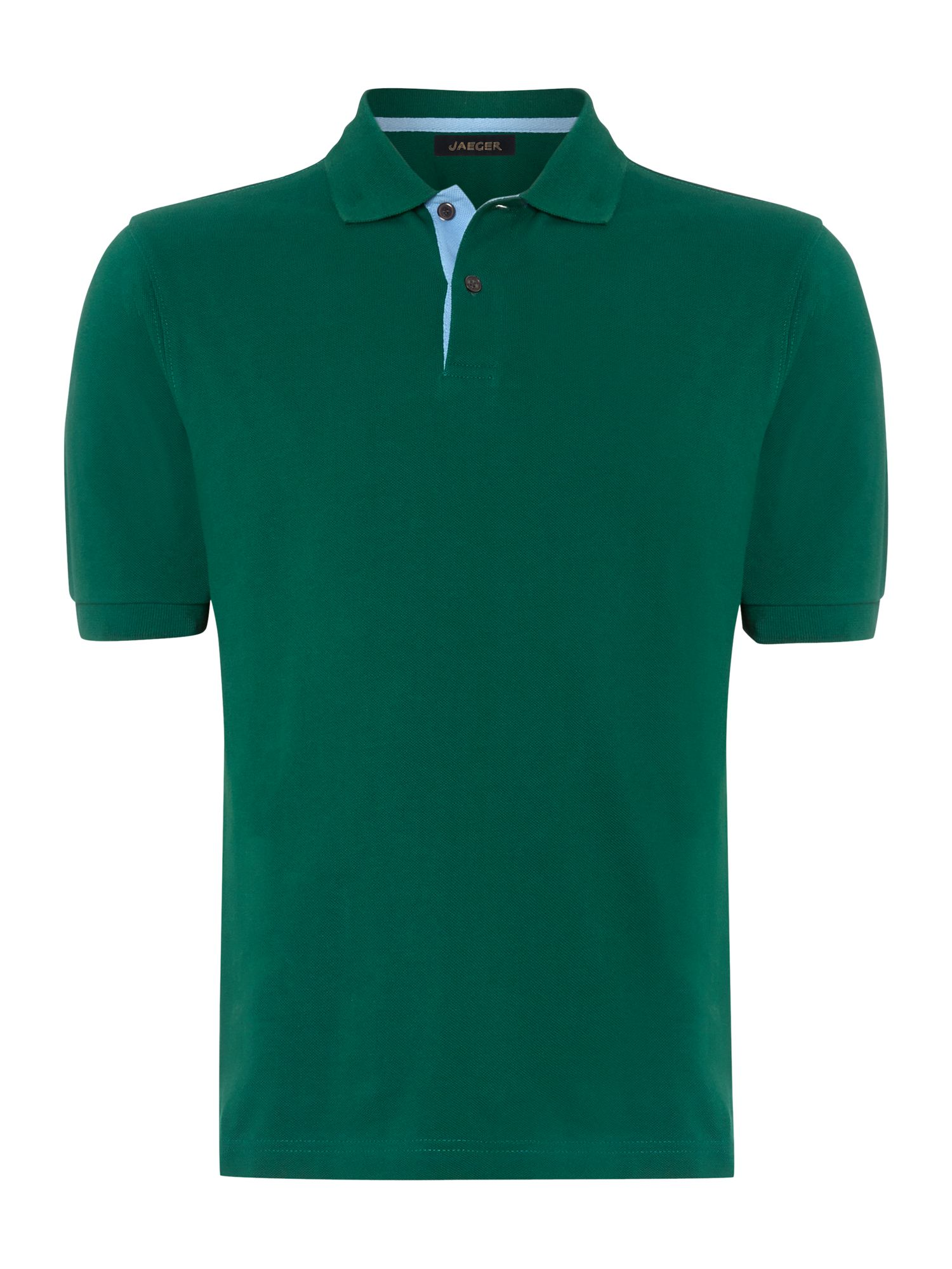 Pique polo shirt with contrast placket