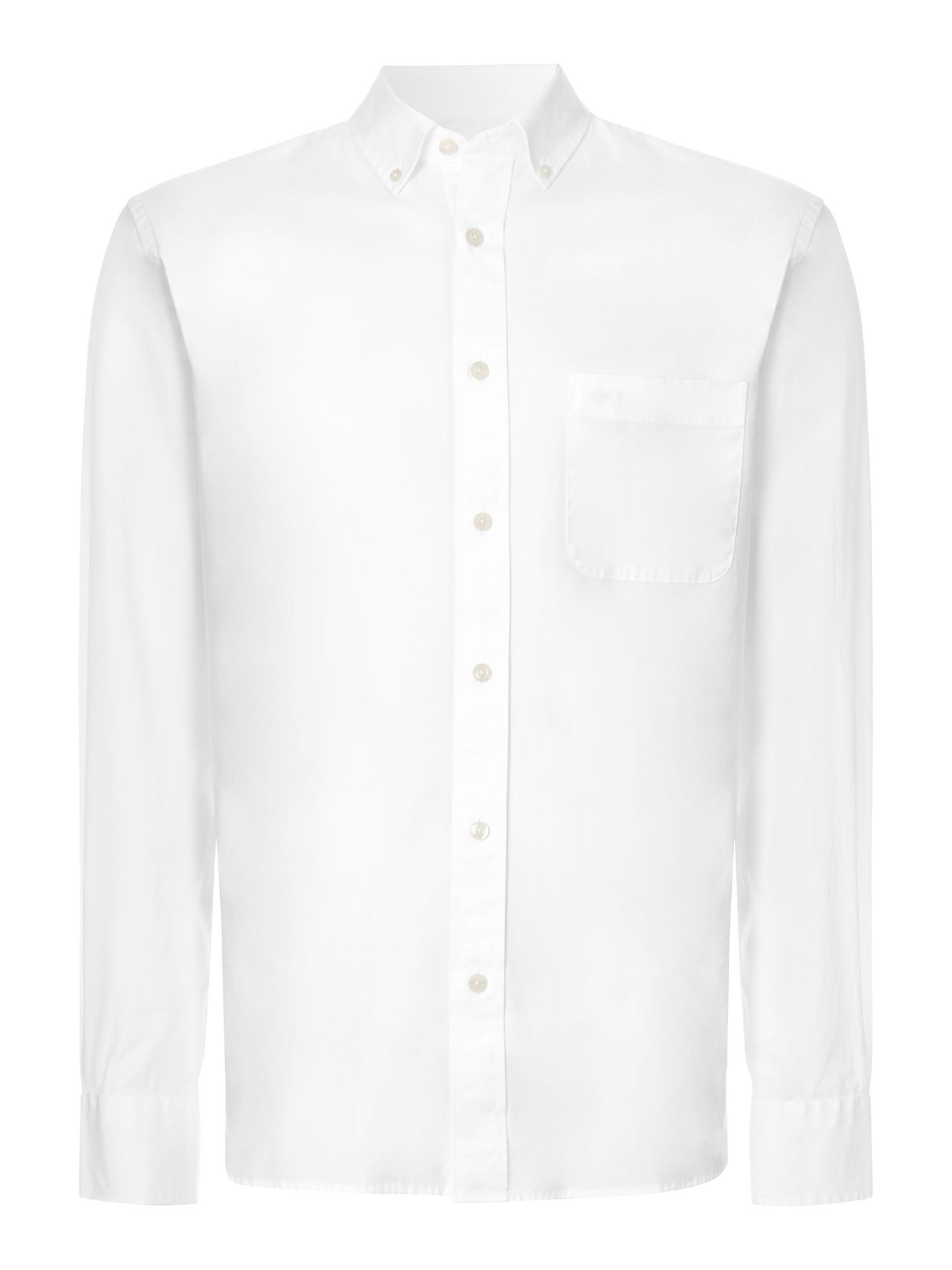 Oxford long sleeve cut-away collar shirt