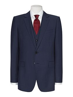 Sharkskin single breasted suit jacket