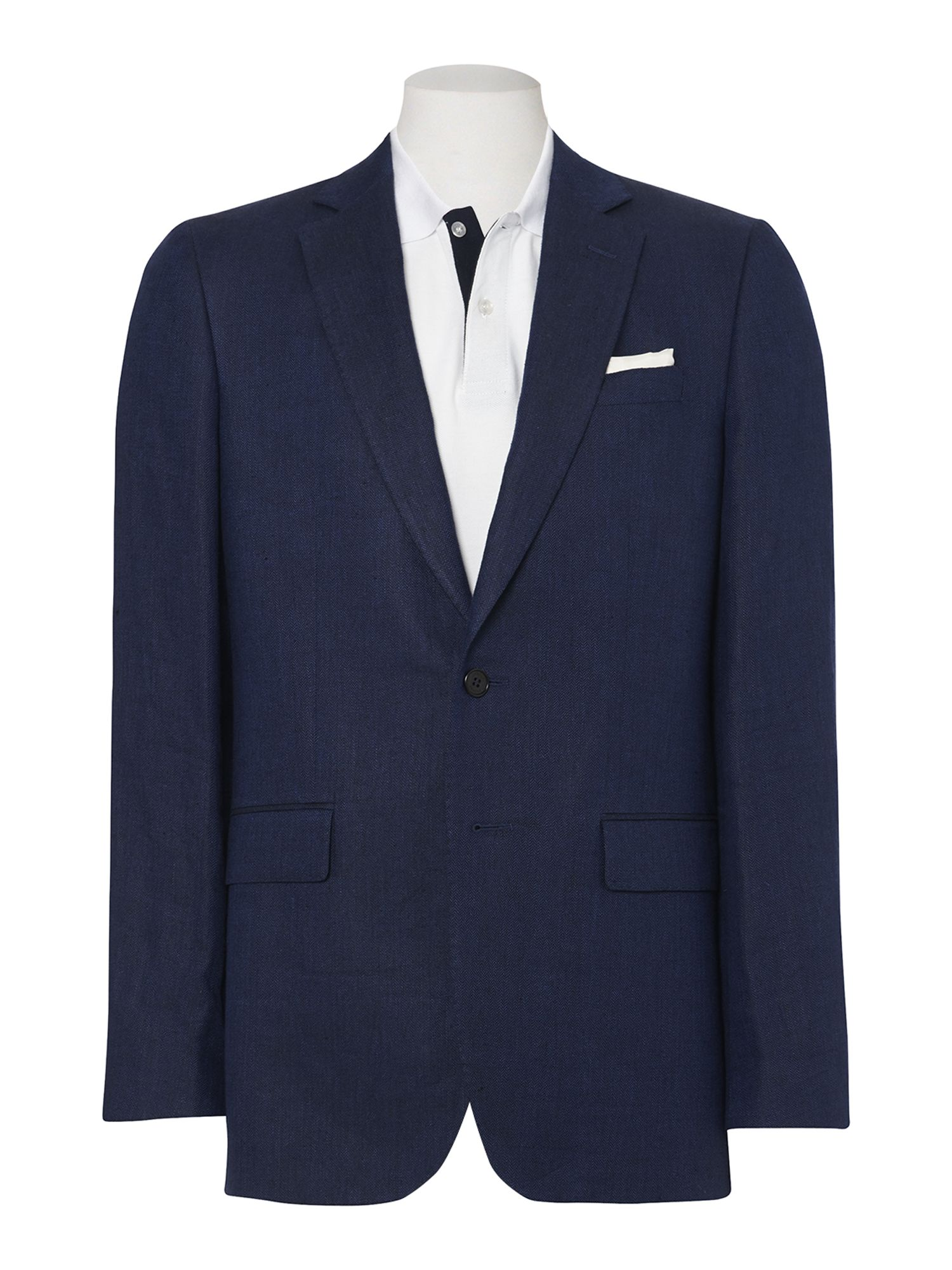 Herringbone single breasted suit jacket