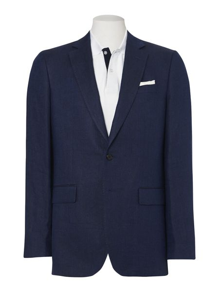 Jaeger Herringbone single breasted suit jacket