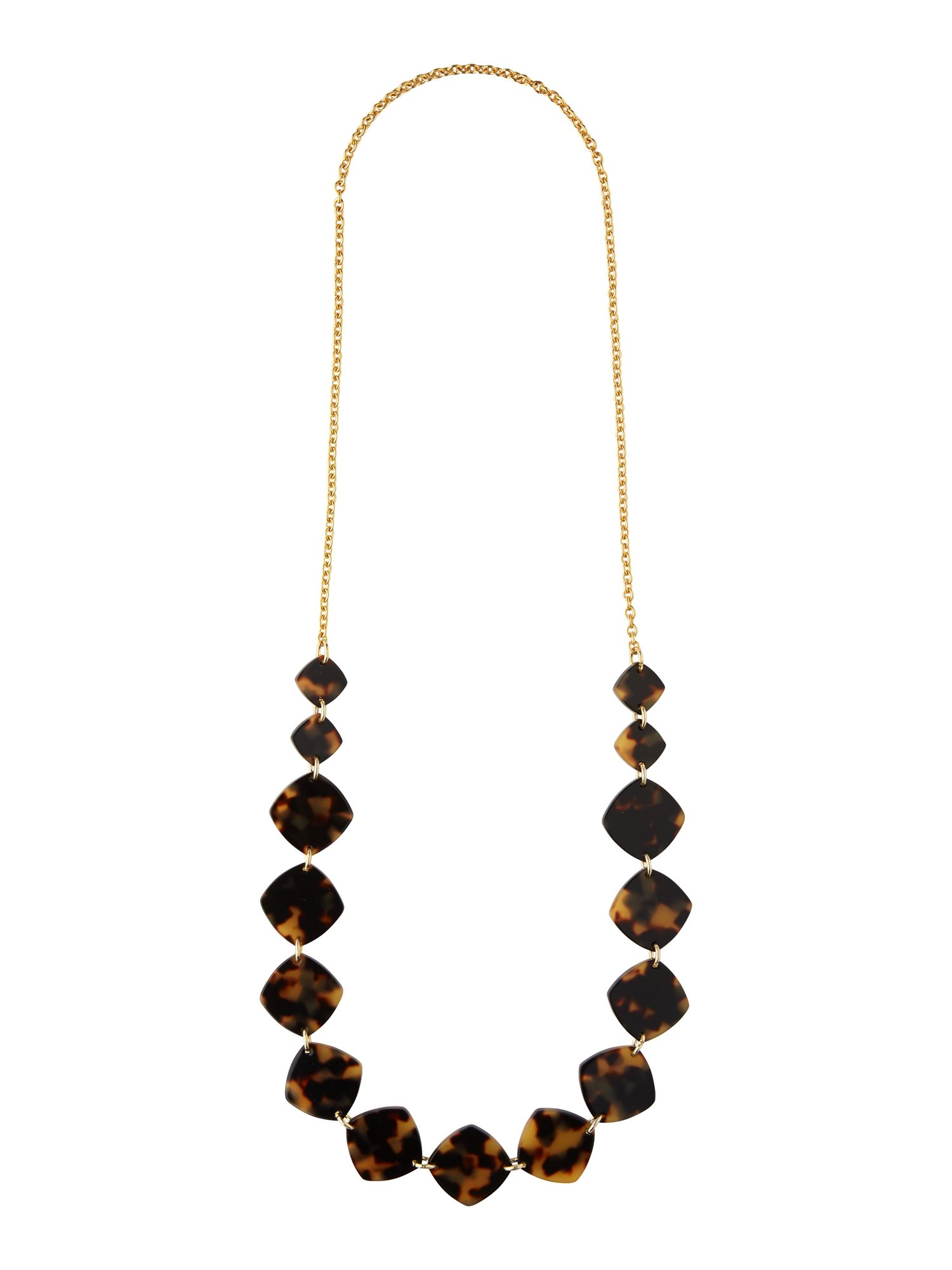 Long tort resin necklace