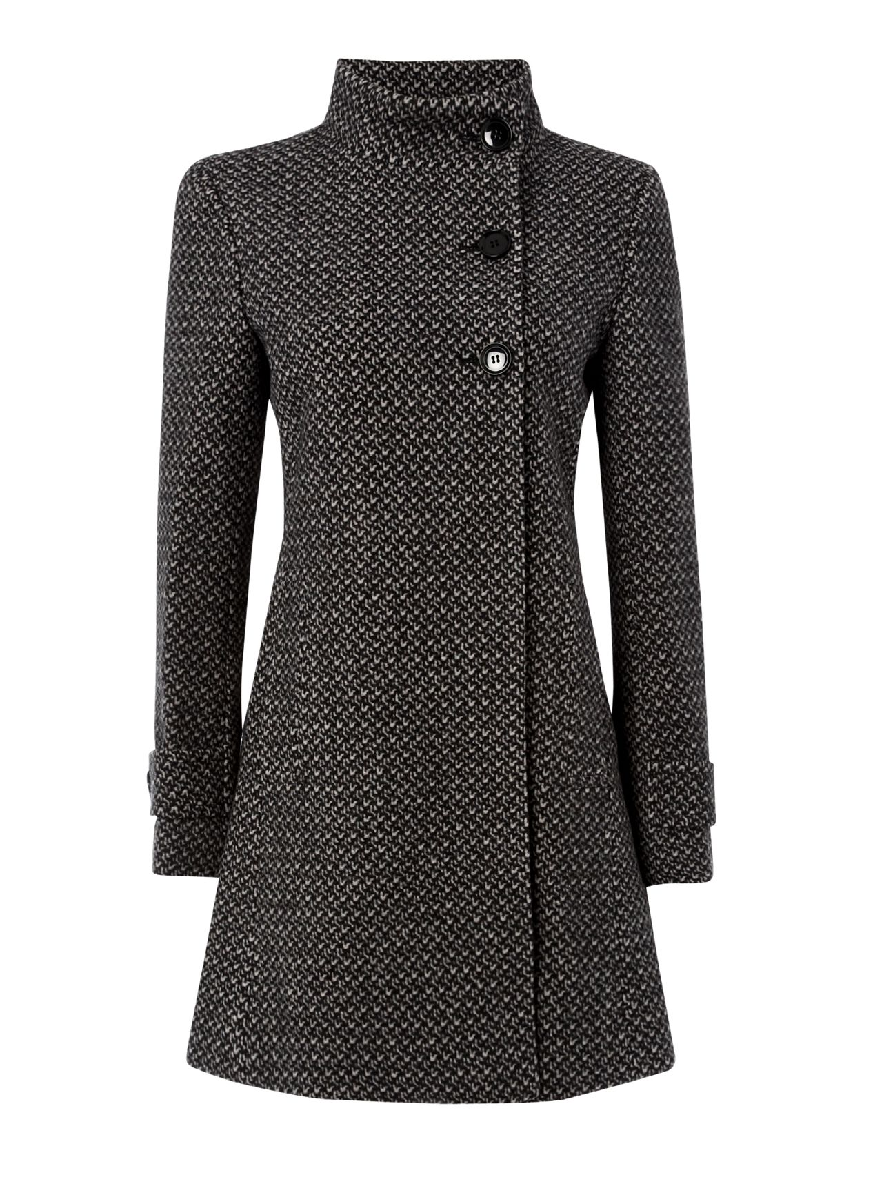 Textured Swing Coat