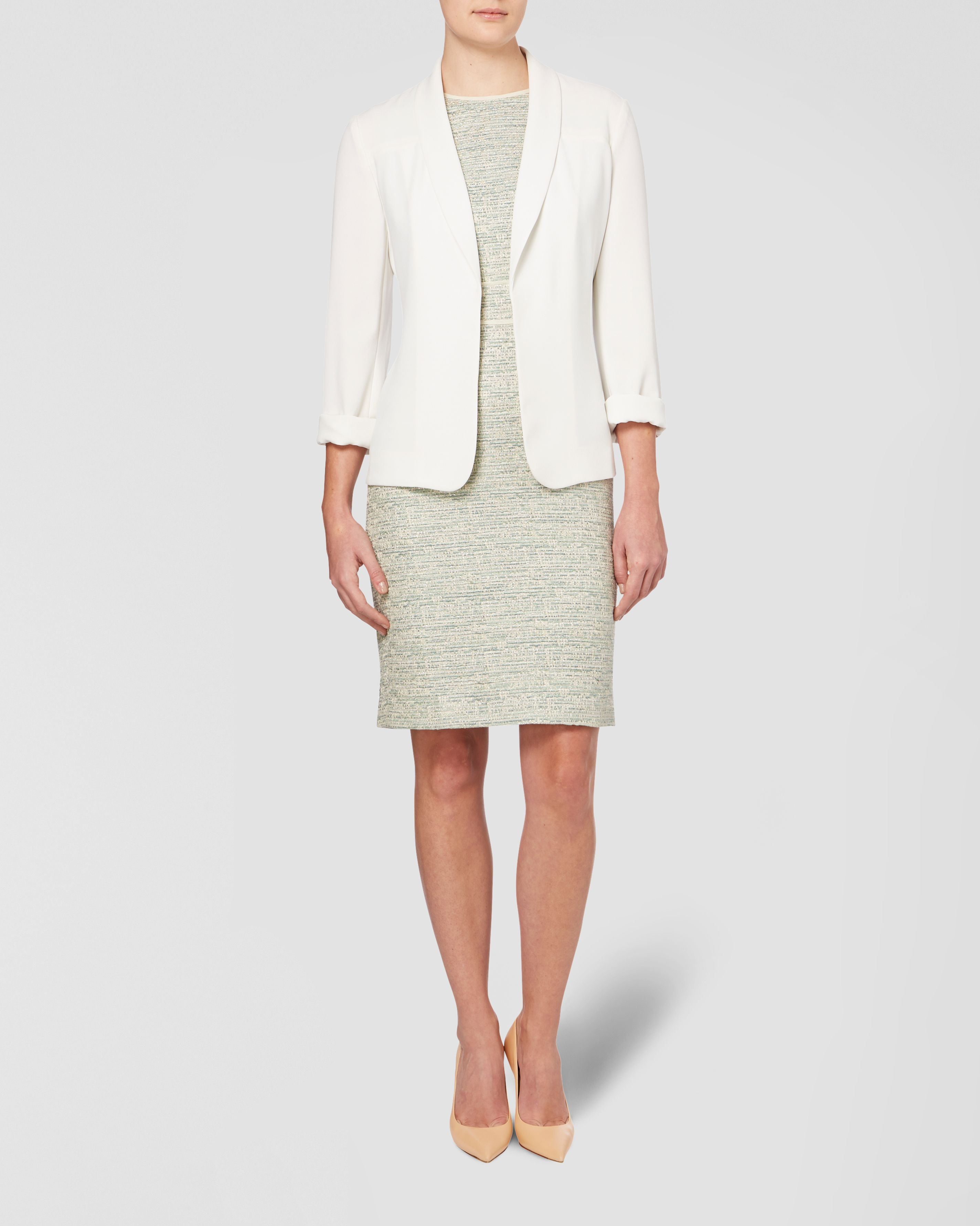 Edge to Edge Crepe Jacket