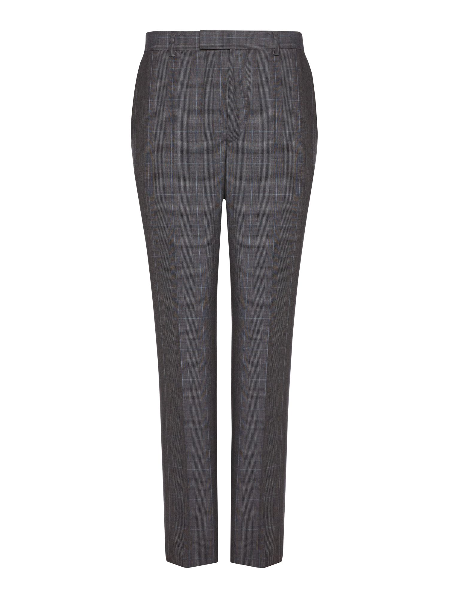 Prince of Wales check formal suit trousers