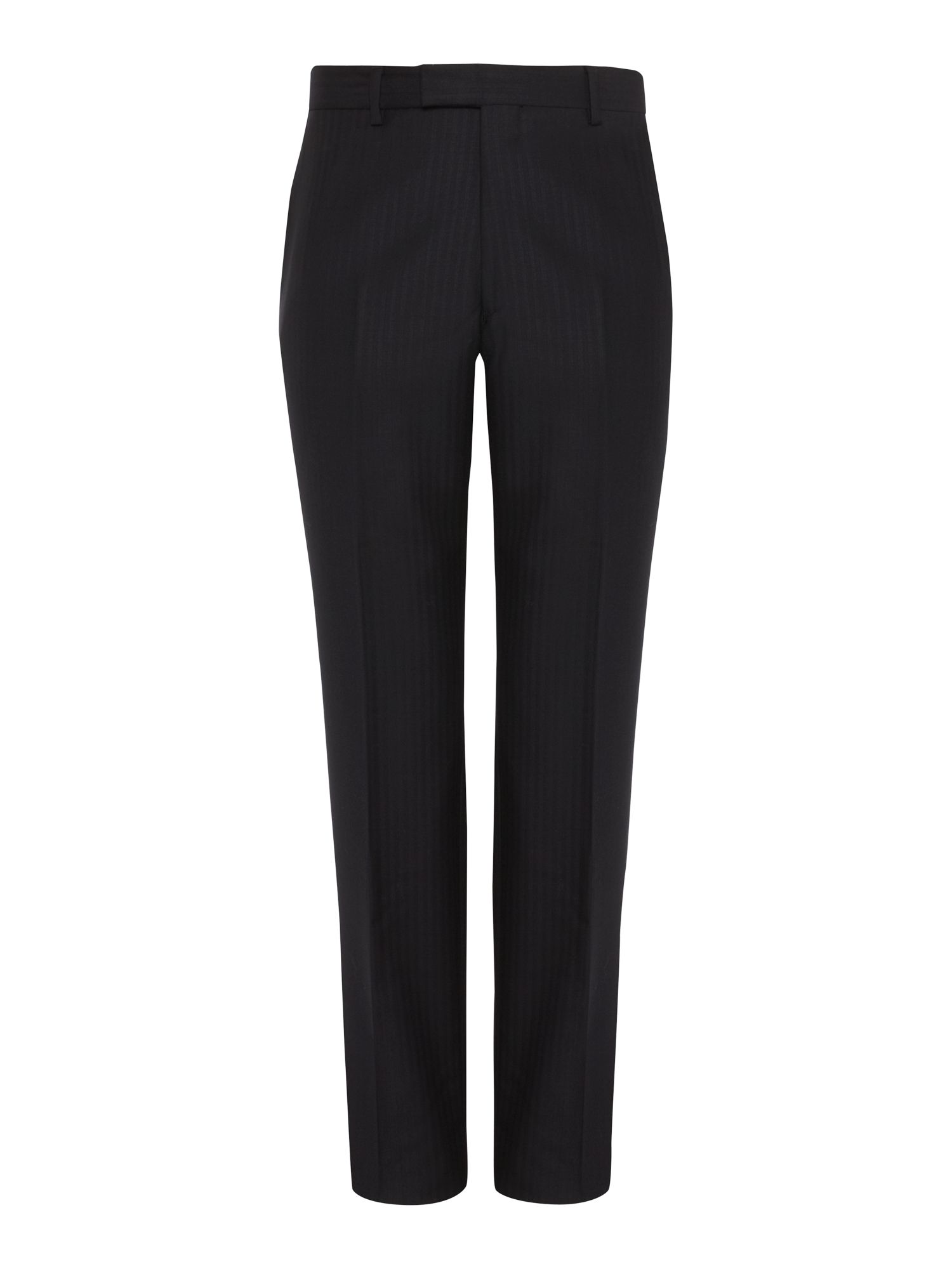 Herringbone formal tailored suit trousers