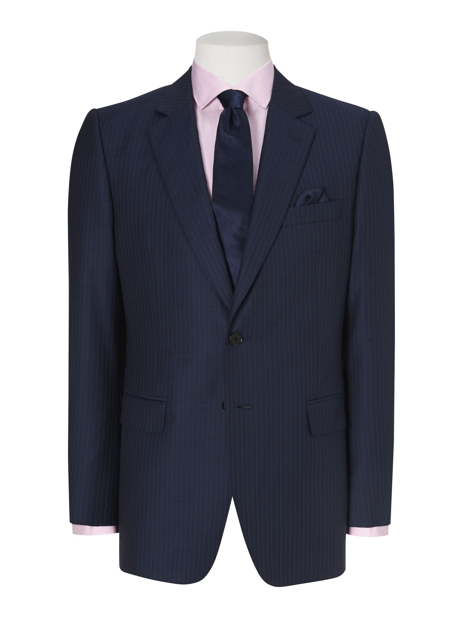 Fine stripe 110`s single breasted suit jacket