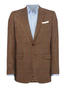 Silk Herringbone Check Jacket