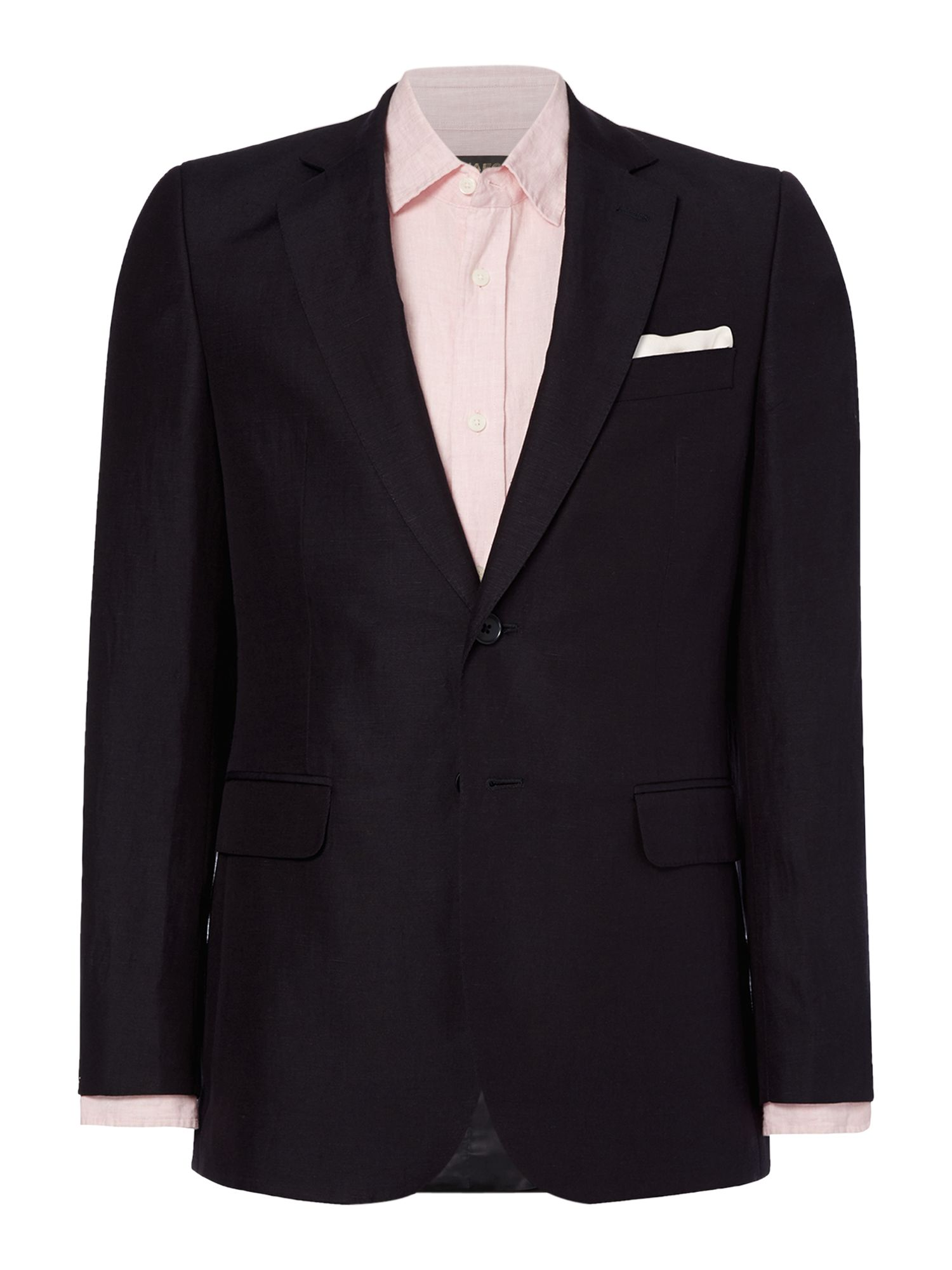 Notch lapel single breasted suit jacket
